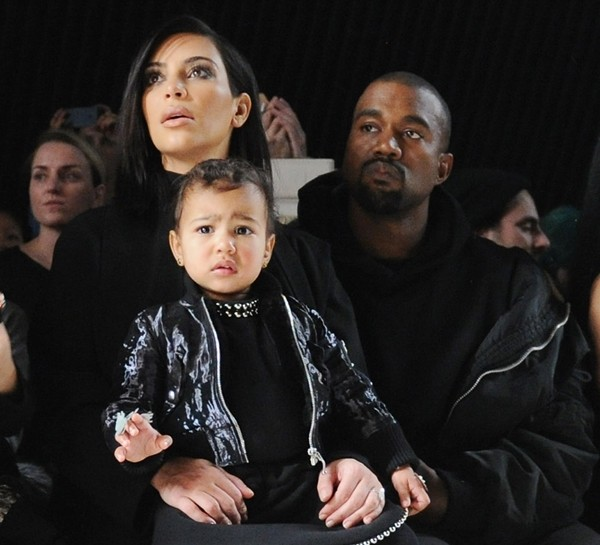 Kim Kardashian, Kanye West e North West (Foto: Getty Images)
