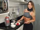 Eliana Amaral ensina receita de mousse de morango que não engorda
