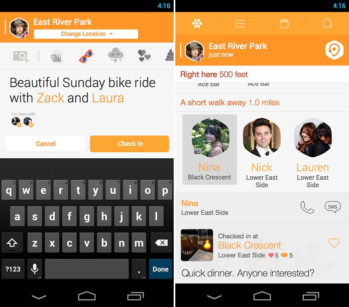 Swarm tem funções mais sociais (Foto: Divulgação/Foursquare)
