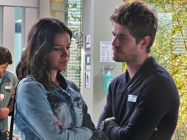 Será que o casal ainda vai voltar a se entender? (Foto: Ariane Ducati/Gshow)