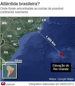 Mapa Atlântida (Foto:  )