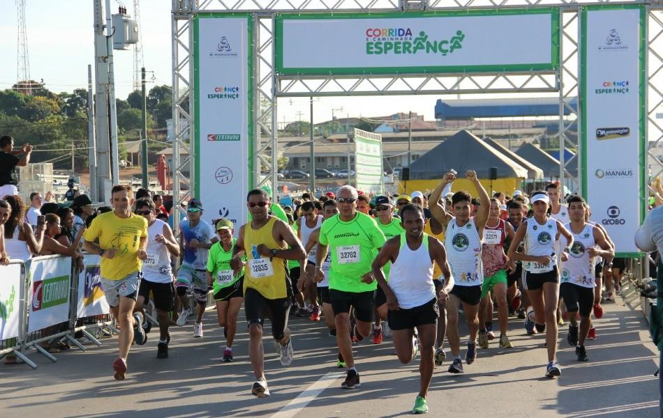 Corrida e Caminhada da Esperança reúne 700 pessoas, em Manaus (Foto: Adeilson Albuquerque/GE AM)