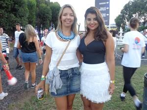 Suhene Candia e Bibiana Veríssimo Bernardes (Foto: Jessica Mello/G1)