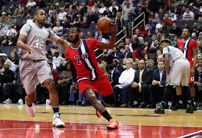 John Wall Washington Wizards vs. Boston Celtics NBA (Foto: Rob Carr/Getty Images)