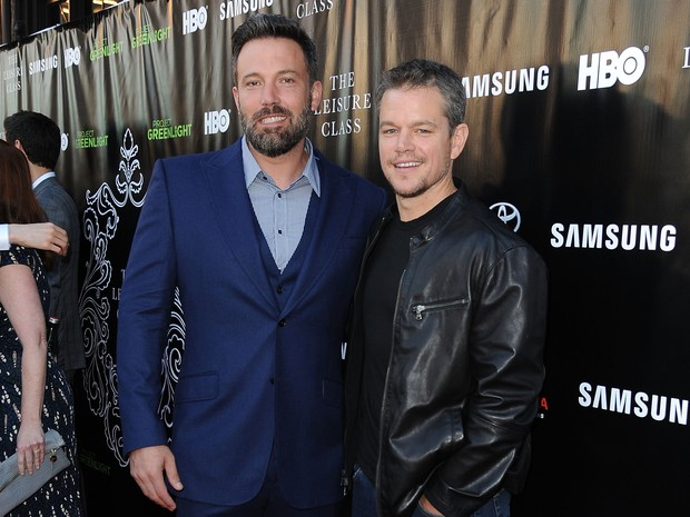 Ben Affleck e Matt Damon em première em Los Angeles, nos Estados Unidos (Foto: Angela Weiss/ Getty Images/ AFP)