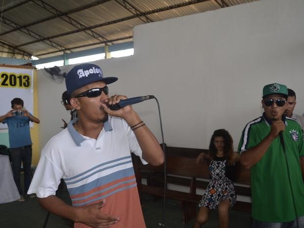 Batalha teve apresentação de três dos quatro eixos do hip hop (Foto: Abinoan Santiago/G1)