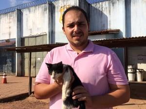 gato, vítima, estupro, iapen, prisão, maus tratos, animais, Macapá, Amapá (Foto: Victor Hugo Fernandes/ Arquivo Pessoal)