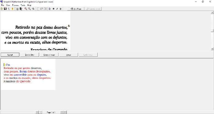 O Simple OCR é ideal para extrair textos de grandes quantidades de imagem (Foto: Reprodução/Daniel Ribeiro)