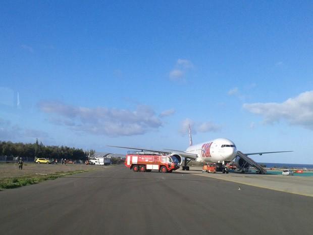 Avião da TAM que ia para SP faz pouso não previsto nas Ilhas Canárias. (Foto: Evandro Mendes/VC no G1)