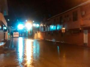 Fortes chuvas atingiram cidade de Porto Seguro, extremo sul da Bahia (Foto: Elvis Magno dos Santos Ramos/ Arquivo Pessoal)