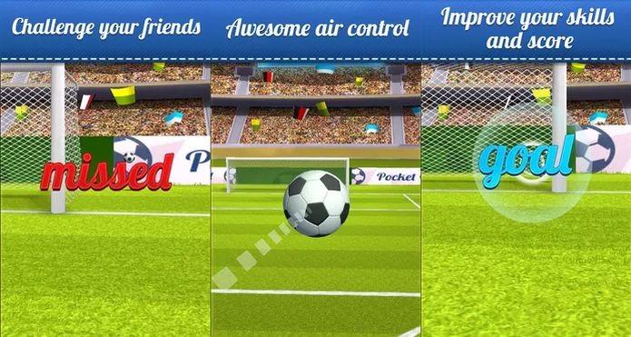 Pocket Goal é um jogo casual de futebol que aproveita o mundial no Brasil (Foto: Divulgação)