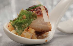 Frango, kimchi e shissô