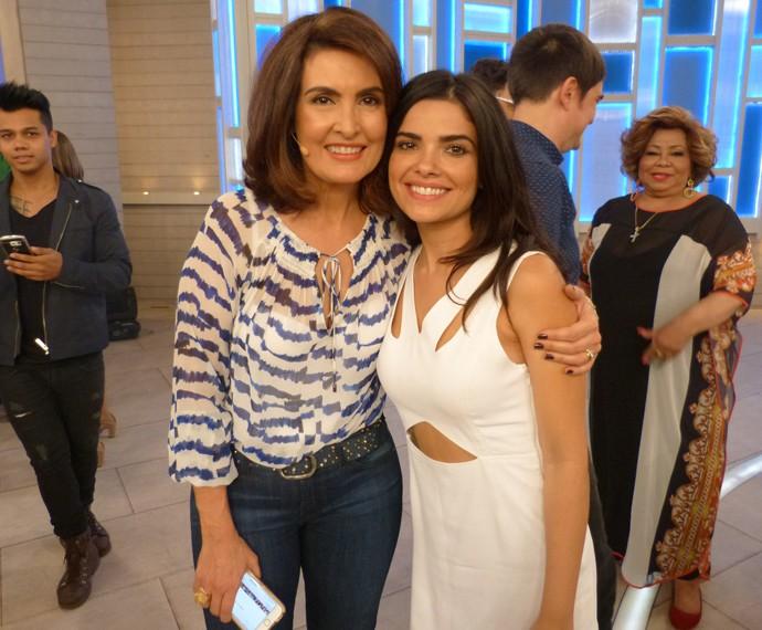 Com a atriz Vanessa Giácommo (Foto: Viviane Figueiredo Neto / Gshow)