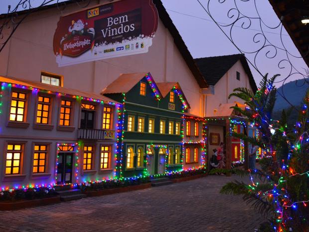 Minicidade natalina é montada no Centro Cultural de Pomerode (Foto: Weihnachtsplatz/Divulgação)