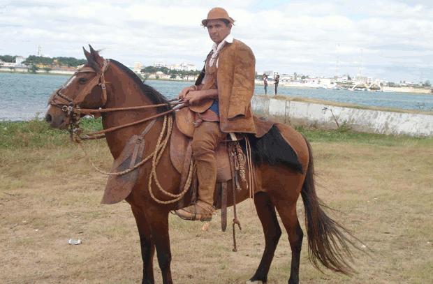 Vaqueiro no Nordeste (Foto: Colégio Qi/Reprodução)