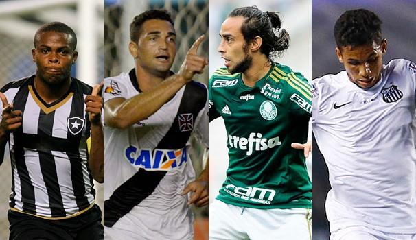 Botafogo enfrenta Vasco, no Rio, e Palmeiras encara Santos, em São Paulo, neste domingo, dia 26 (Foto: globoesporte.com)