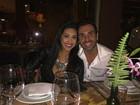 Amanda Djehdian posta foto em jantar romântico com o namorado: 'Eu e ele'