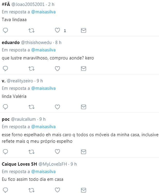 Maisa recebeu comentarios dos seguidores após exibir fotos da casa onde mora (Foto: Reprodução/Twitter)