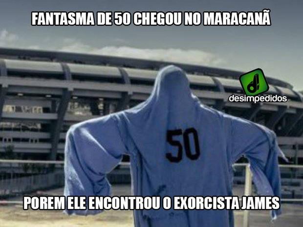 Não foi a vez do fantasma do Maracanazo (Foto: Reprodução/Facebook)