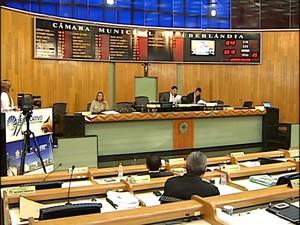 Câmara Uberlândia  (Foto: TV Integração/Reprodução)
