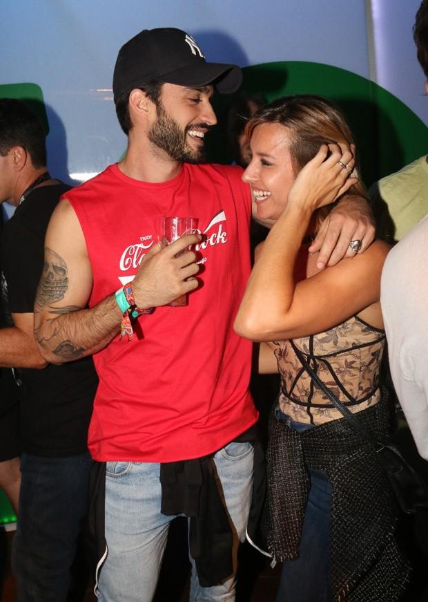 Cris Dias e o namorado, Lucas Franco, (Foto: Cleomir Tavares/Ed Globo)