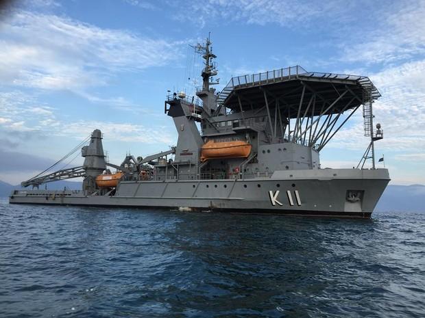 Navio de Socorro Submarino Felinto Perry (Foto: Divulgação Marinha do Brasil)