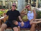 Rafaella Justus curte viagem de férias com o pai nos Estados Unidos