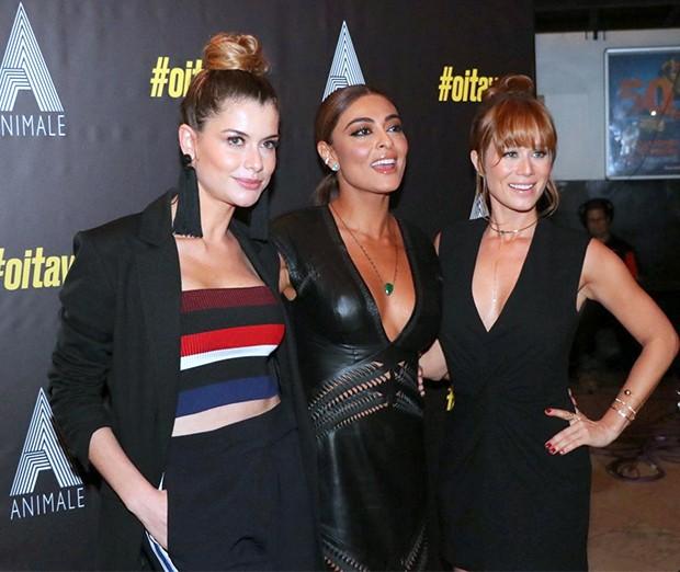 Aline Moraes, Juliana Paes e Mariana Ximenes (Foto: Webert Belicio e Rogerio Fidalgo/ AgNews)