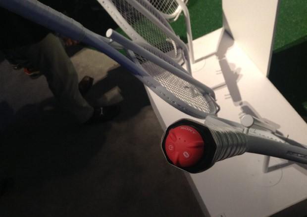 Raquetes de tênis se tornam 'inteligentes' com sensor (Foto: Gustavo Petró/G1)