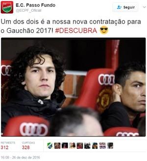 Passo Fundo redes sociais Gauchão (Foto: Reprodução / Twitter)