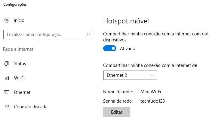 Use a internet de um modem no roteador do computador (Foto: Reprodução/Paulo Alves)