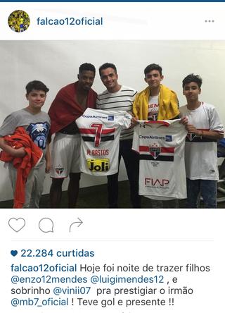 Falcão, São Paulo, Michel Bastos, Morumbi (Foto: Reprodução/ Instagram)