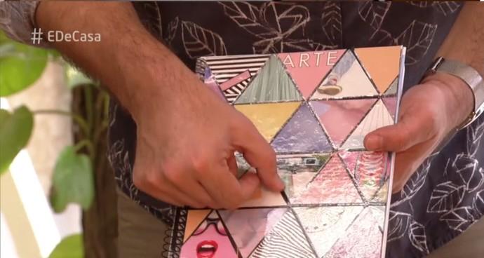 Deixe espaço estre os triângulos para dar um efeito no trabalho (Foto: TV Globo)