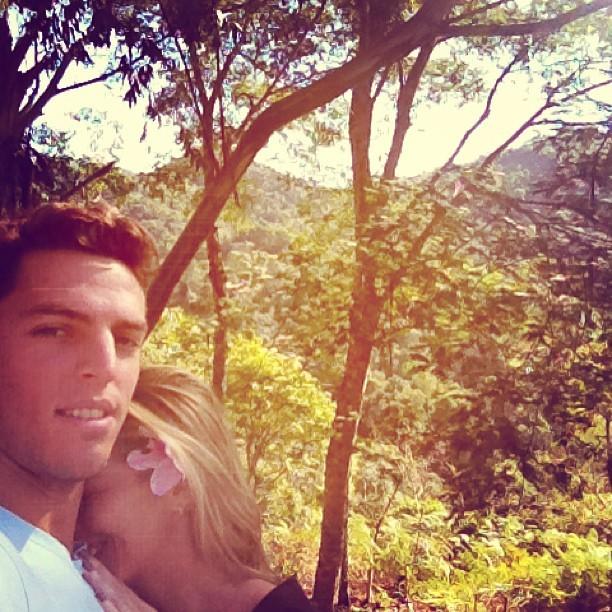 Danielle Winits e o namorado, Amaury Nunes (Foto: Reprodução/Instagram)