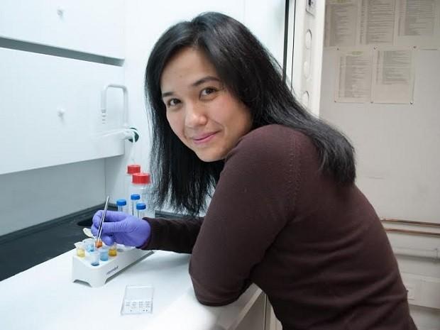 A cientista brasiliense Priscila Kosaka, que desenvolveu uma técnica menos invasiva para detecção de câncer (Foto: Priscila Kosaka/Arquivo Pessoal)