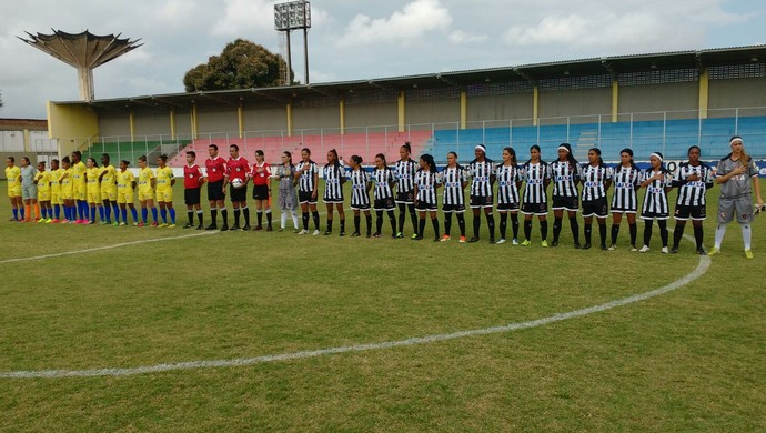 Botafogo-PB x Tiradentes-PI, Botafogo-PB, Tiradentes-PI, feminino  (Foto: Divulgação / FPF)