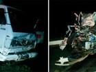Colisão de carro com caminhão mata três pessoas na BR-304, no RN