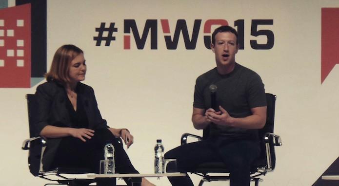 Mark Zuckerberg durante sessão de perguntas na MWC 2015 (Foto: Reprodução/Webrazzi TV)