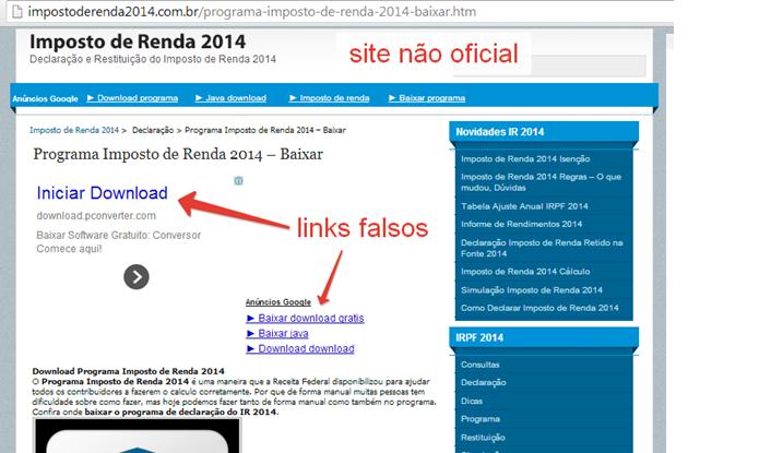 Cuidado com sites falsos (Foto: Divulgação/CAIS)