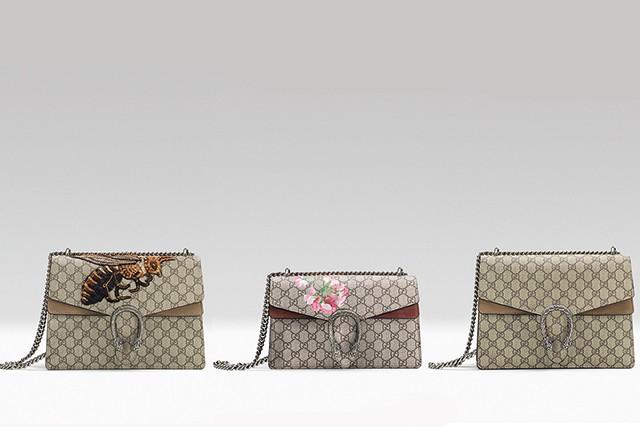 Diferentes versões da Dionysus Bag, da Gucci (Foto: Divulgação)