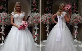 Uau!!! Ellen Rocche surge linda em cena com vestido de noiva. Quem será o noivo?