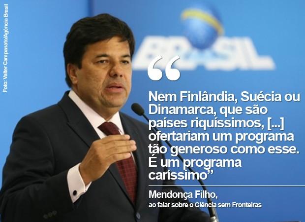 CARD: Ministro da Educação, Mendonça Filho (Foto: Card/G1)