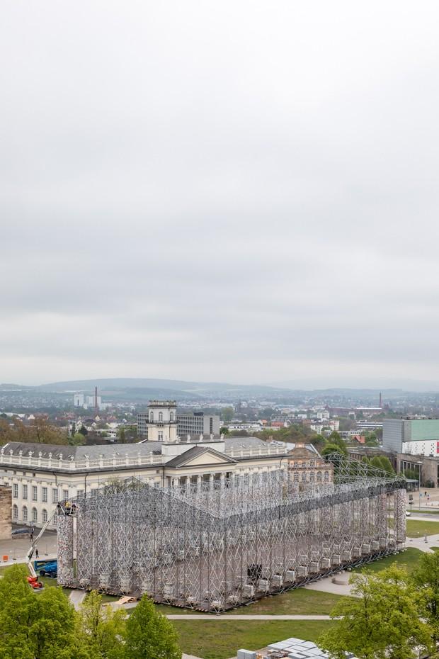 documenta Marta Minujín montagem do Panteão em Kassel (Foto: Divulgação)