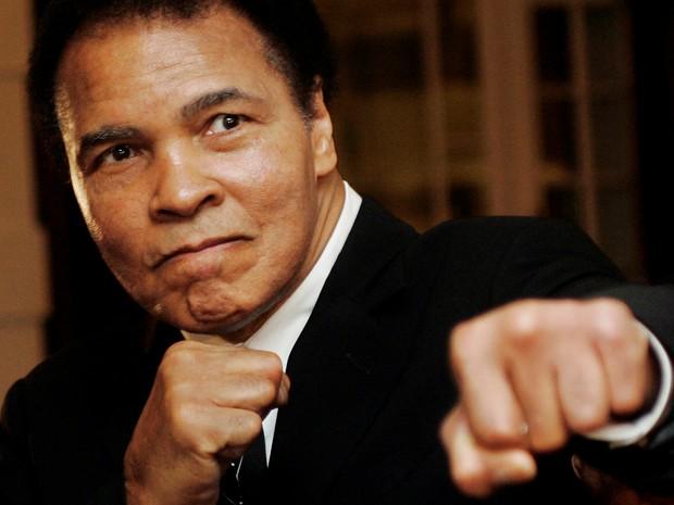 Muhammad Ali, durante participação no Fórum Econômico Mundial, em 2006 (Foto: Reuters)