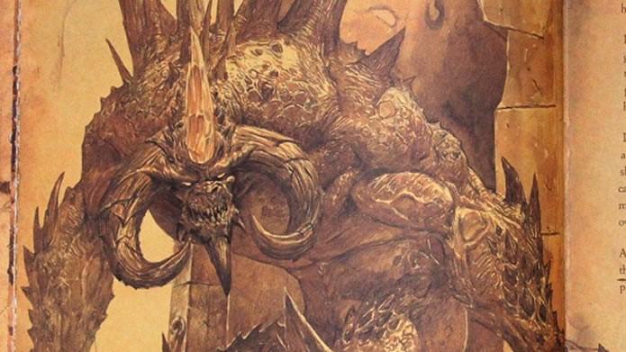 Com inúmeras ilustrações dos próprios produtores do game, Diablo III: Livro de Cain é altamente recomendável para os fãs do game (Foto: Reprodução/Daniel Ribeiro)