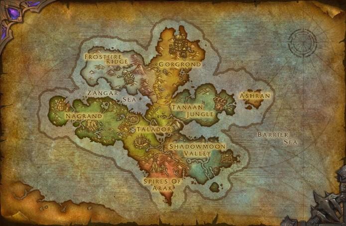 Draenor é também um dos locais do filme de Warcraft (Foto: Divulgação/Blizzard)