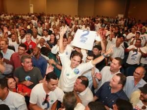 Eures Ribeiro (PSD) foi eleito presidente da UPB com 209 votos (Foto: Lourival Custódio/Divulgação UPB)