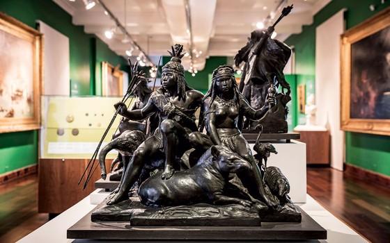 Maquetes  em gesso no museu Histórico Nacional.As peças deram origem á falsa autoria da estátua (Foto: Stefano Martini/ÉPOCA)