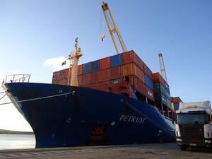 Codern espera ampliar número de linhas para fazer transporte de frutas no Porto de Natal (Foto: Divulgação/Codern)