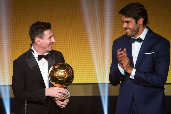 Messi Bola de Ouro Kaká (Foto: Getty Images)